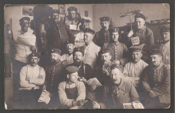 1° Guerra Alemania Foto Postkarte De Soldados Nueva - 326
