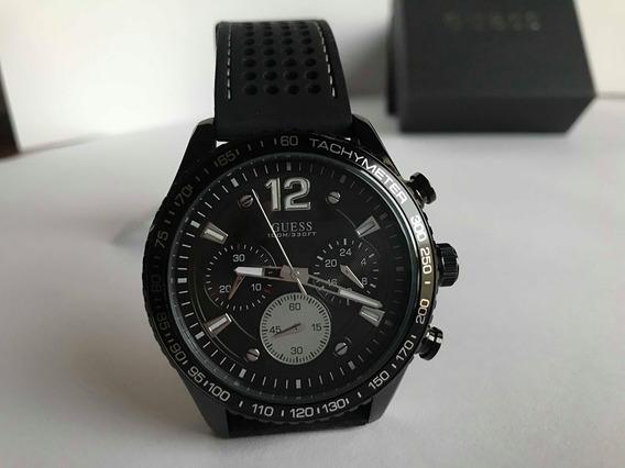 Reloj Nuevo Guess Negro Para Caballero 100% Original