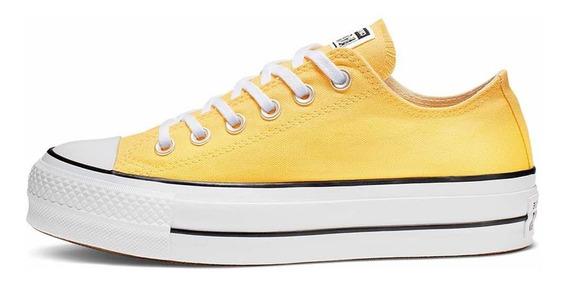 Plataforma Converse Chuck Taylor Lift Color Amarillas