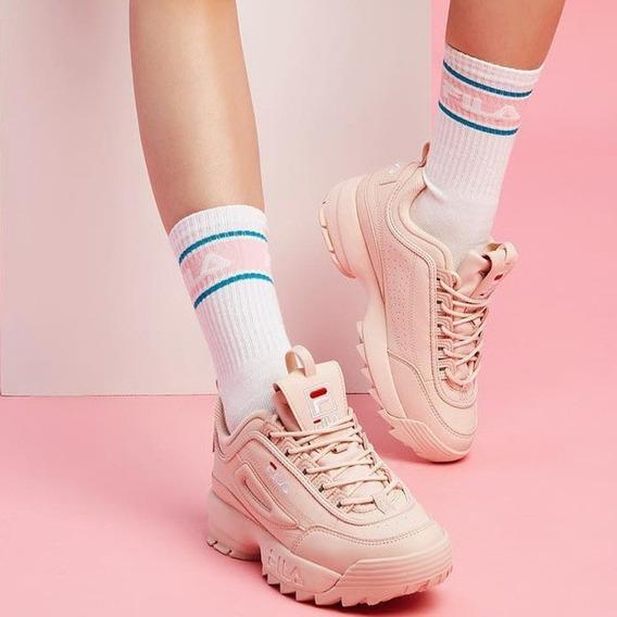 Zapatillas Fila Disruptor Rosa De Mujer
