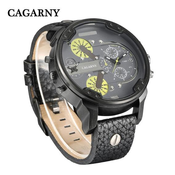 Relógio Original Cagarny Quartz Pulseira Couro
