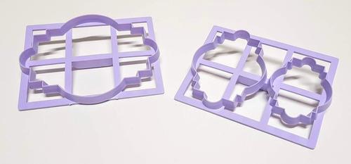Set De Cortantes Cartel X 3 Modelo I Fondant Porcelana