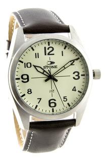 Reloj Stone Caja Acero Inoxidable ,cuero Garantia Oficial !!