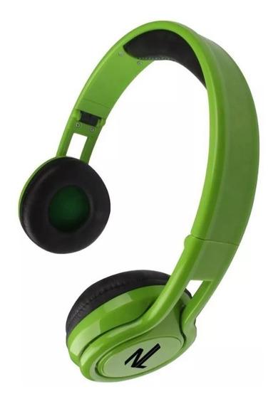 Fone De Ouvido Headphone Dobrável Energy Verde Hs112 Newlink