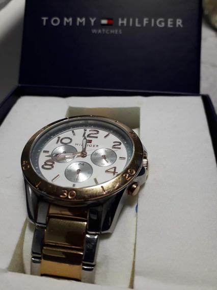 Relógio Tommy Hilfiger Feminino Prata E Dourado