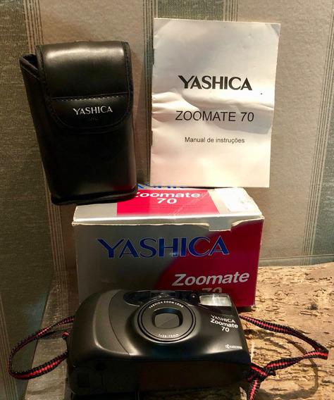 Câmera 35mm Analógica Yashica Manual Capa Na Caixa 38-70mm