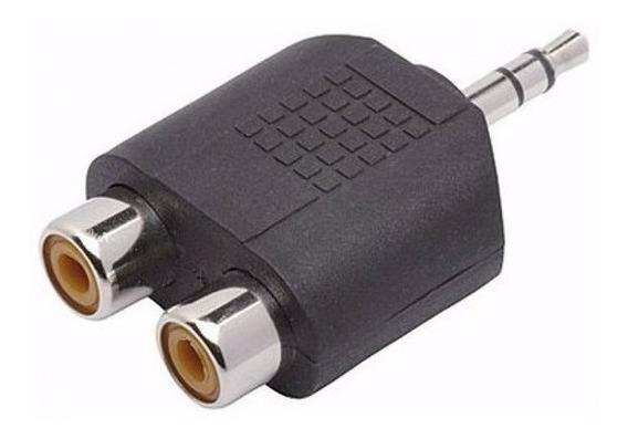 2 Plug Adaptador P2 Stereo X 2 Jack Rca Fêmea