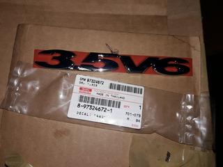 Emblema 3.5v6 3.5 V6 Luv Dmax 8-97324672-1 Original Isuzu Gm
