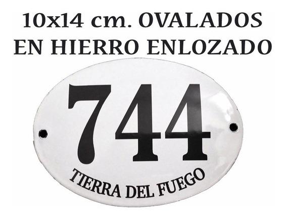 Número Frente De Casa Dirección Chapa Cartel Apellido Oval