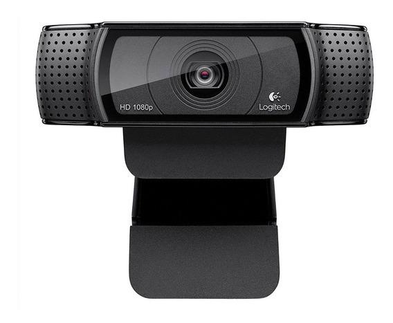 Webcam Logitech C920 Full Hd 1080p Para Pc Notebook Mais