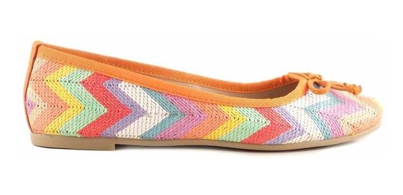 Chatita Mujer Mocasin Briganti Zapato Tela Goma - Mccha2943