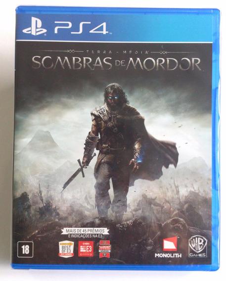 Terra Média Sombras De Mordor - Ps4 Até 12x Sem Juros