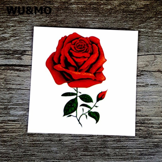 Tatuagem De Henna A Prova Dàgua Flor Vermelha 60 * 60mm