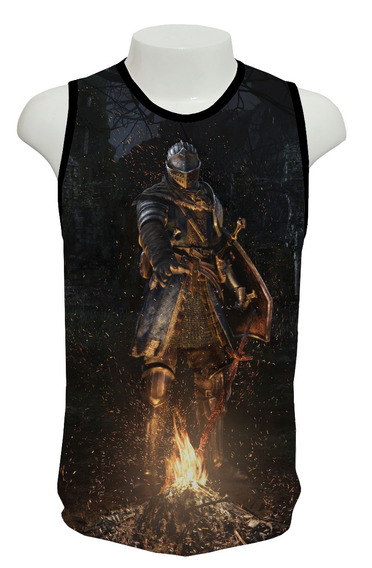 Camisa, Dark Souls Remastered Mod 01 - Regata Frete Grátis