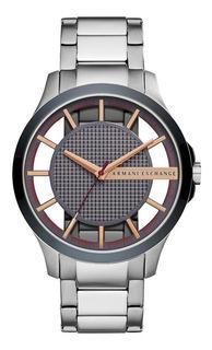 Relógio Armani Exchange Masculino Hampton Prata - Ax2405/1kn