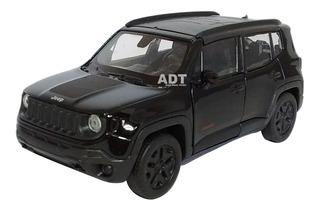 Carrinho De Ferro Jeep Renegade Carro Brinquedo Coleçao Mini
