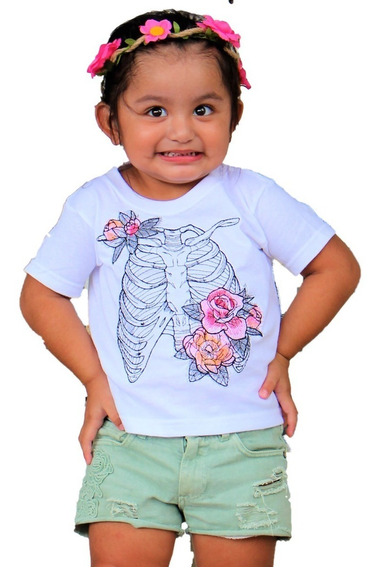 Playera Bordada Niño Halloween Mod. Regina