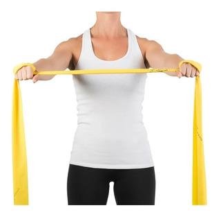 Kit Com 3 Faixas Elástica Para Exercícios 2m Amarela/ Vermelha/ Verde Mercur