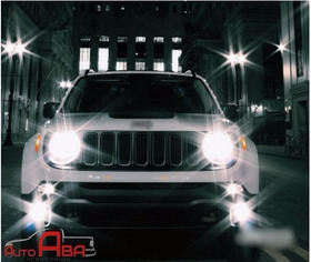Jeep Renegade Lampadas Super Led Farol Alto Baixo Milha Drl