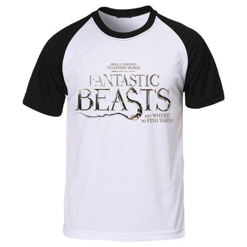 Camiseta Raglan Animais Fantasticos