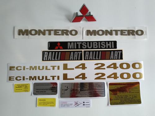 Mitsubishi Montero 2400 Calcomanias