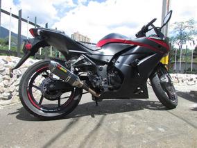Kawasaki Ninja 250 Montada En 300 Mofle Akrapovic Luces Led
