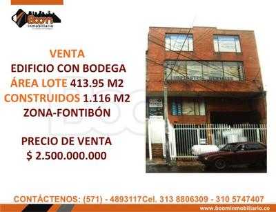 **venta Edificio Con Bodega 1.116 M2 Fontibon