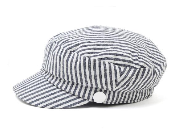 Boina Sombrero Mujer Rayas 100% Algodón