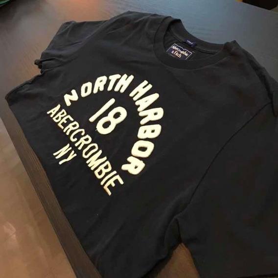 Camiseta Abercrombie Azul Naval 2019 Original
