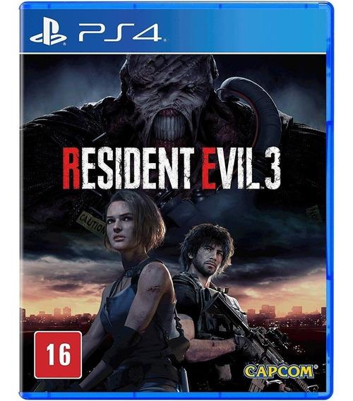 Jogo Midia Fisica Resident Evil 3 Remake Lacrado Para Ps4