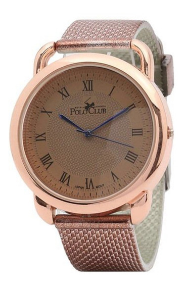 Polo Club Reloj Dama Rosa Gold Moda