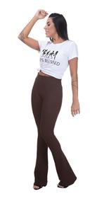 Kit 4 Calças Flare Bandagem Roupa Moda Feminina Frete Grátis