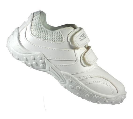 Zapatillas Colegial Plumitas Blancas Del 27 Al 35