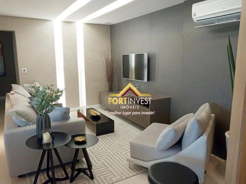Apartamento Com 3 Dormitórios À Venda, 117 M² Por R$ 690.000,00 - Canto Do Forte - Praia Grande/sp - Ap1900