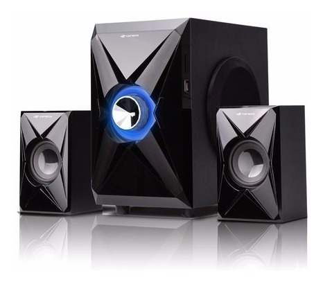 Caixa Som Speaker 2.1 40w Rms Bivolt Preto Sp-260bk C3 Tech