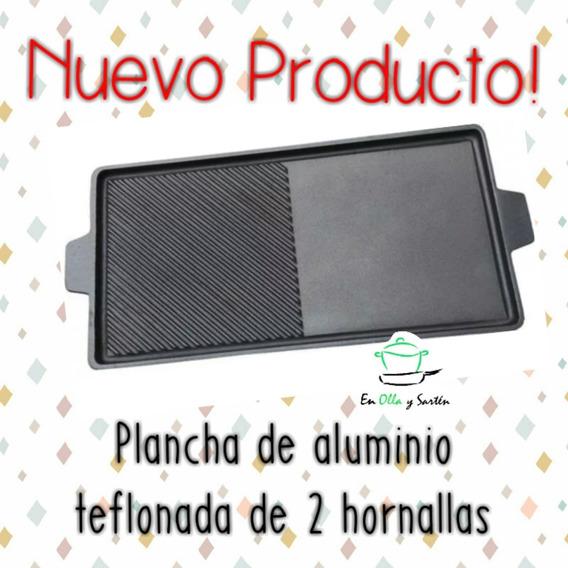 Plancheta Bifera De Dos Hornallas Aluminio De Gran Espesor!