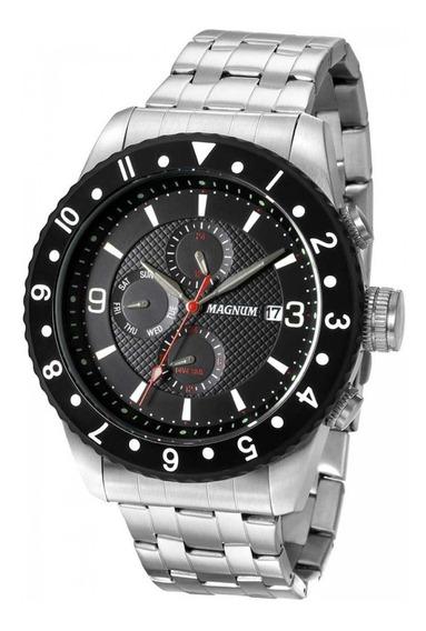 Relógio Magnum Masculino Ma34183t Prata