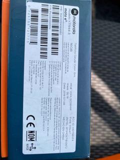Motorola Motoe5 Nuevo Encaja Sellada
