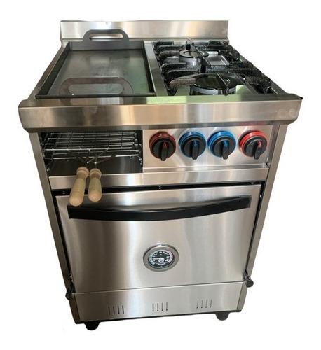 Imagen 1 de 5 de Cocina Industrial Familiar 2h + Plancha C/ Carlitero 58cm.