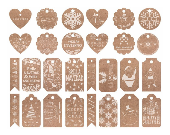 Tarjetas Navideñas Plantilla Con 28 Modelos - Total 280 Pzas