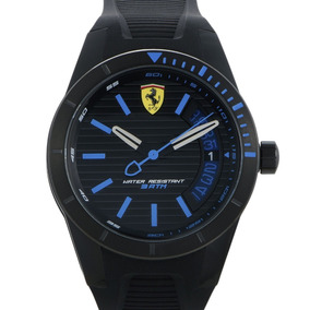 Relógio Ferrari Preto Com Azul Rev T. Armbanduhr 830427