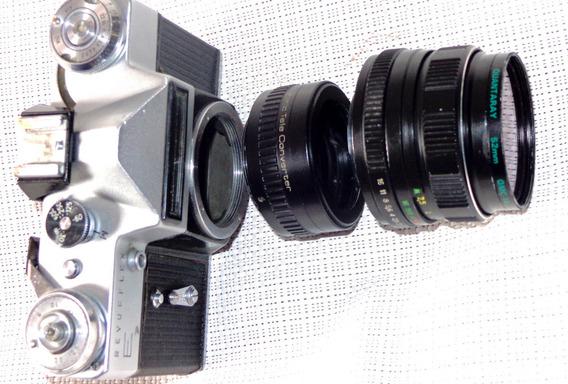 Camara De Fabricacion-ussr-lente Helios+telecombertidor.m42.