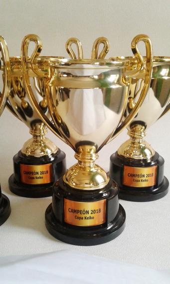 Copa Champion League Plata/oro Trofeo Premio Souvenir C/base