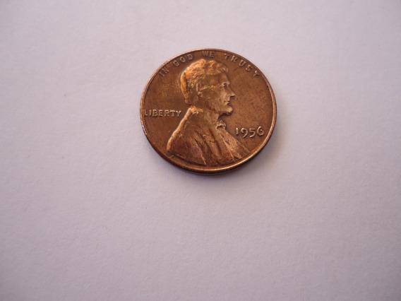 Moeda Bronze 1 Um Centavo One Cent Dolar 1956 Usa America