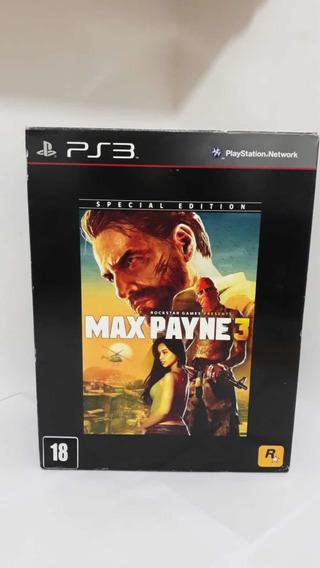 Max Payne 3 Special Edition Ps3 Completo Semi Novo