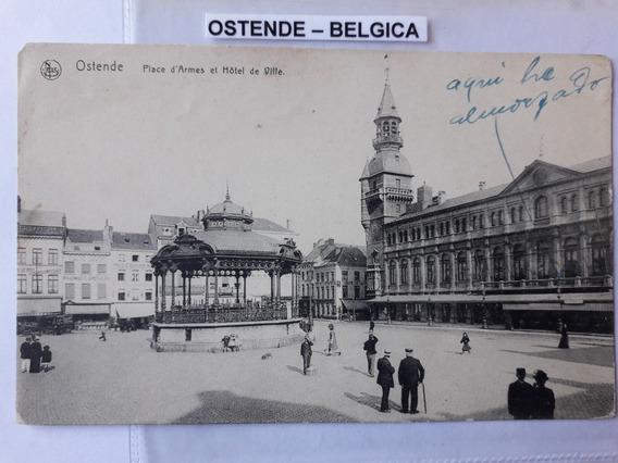 Antigua Postal De La Ciudad De Ostende Bélgica