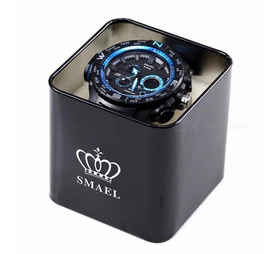 Smael Marca Caixa De Relógio Original Esporte Homens Relógio