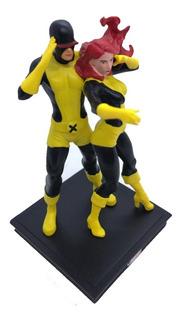 Figuras Marvel 3d Especial Nº 07 Cyclope Y Jean Grey