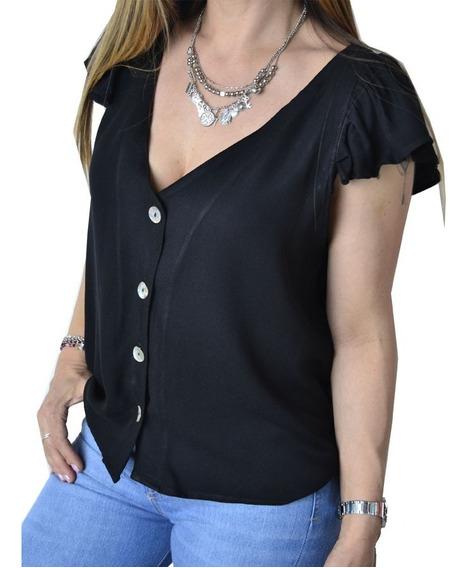 Blusa Remera Con Botones Mujer The Big Shop