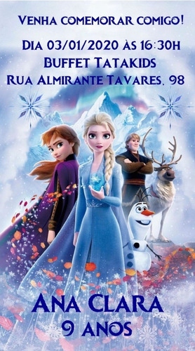 Convite Digital Frozen 2